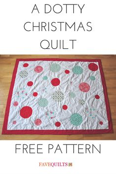 Cute quilt pattern for Christmas. I love the color choice too - very modern.