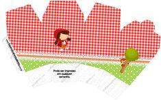 Caixa China in Box Personalizados Chapeuzinho Vermelho