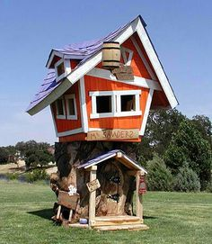 Now this is a cool #playhouse for the kids!