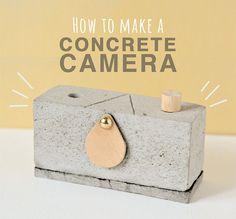Make a Pinhole Camera from Concrete #Camera, #Concrete, #DIY