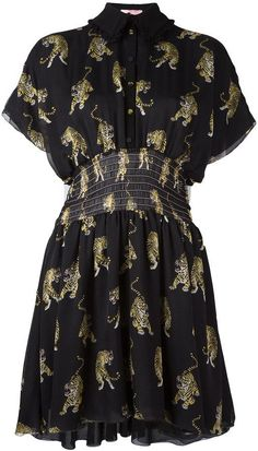 Giamba tiger print shirt dress