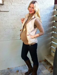 This week, Lauren explains how to make a (non-maternity!) vest look stylish while you're pregnant. #fall