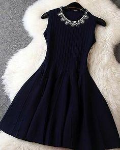 Fabric: BlendedColor: dark blue, green , blackSizes : S, M, LSize (cm):S: Length Length Length 82 Elegant Dresses, Pretty Dresses, Sexy Dresses, Beautiful Dresses, Casual Dresses, Short Dresses, Fashion Dresses, Coctail Dress Short, Skirt Outfits