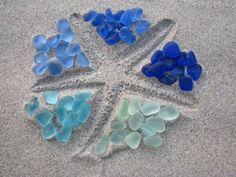 starfish. sea glass.
