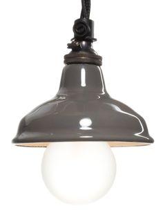 Grey Enamel Miniature Lamp Shade | 80mm: Amazon.co.uk: Lighting
