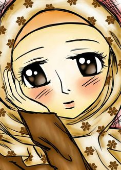 Girl Hijab Anime Muslimah People Illustrations Muslim Girls Fashion