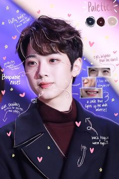 Back Hug, Face Anatomy, Face Swaps, Korean Boys Ulzzang, Guan Lin, Boy Celebrities, Drama Memes, Lai Guanlin, Fluffy Hair