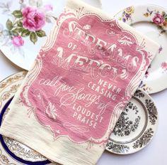 hymn flour sack towels - 4 designs available