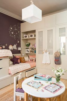 Kid Bedrooms, pin arrangement reference 9344741004 for one super dooper kiddy room. Childrens Bedroom Furniture, Home Decor Furniture, Minimalist Room, Shared Rooms, Kids Room Design, Little Girl Rooms, Awesome Bedrooms, Modern Room, Girls Bedroom