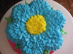 This is a Flower Cupcake Cake.  Covered with buttercream.