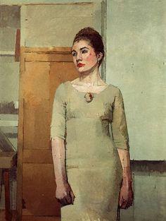 euan uglow  portrait painting
