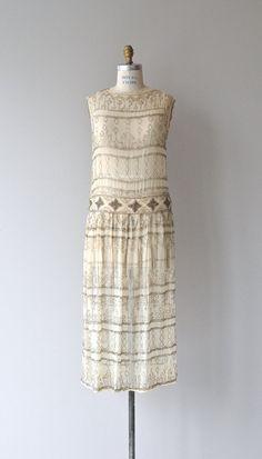 Modigliana beaded silk dress vintage 1920s dress by DearGolden