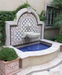 -Outdoor Wall Fountain