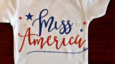 Celebrate your little Miss Americas Fourth of July with this adorable one piece!