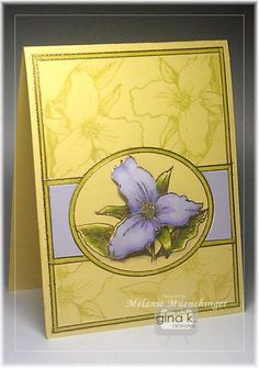 Fabulous Frame: One Frame, Many Techniques - stampTV Video 15:57 mins n today's video, Melanie shares how to make an embossed gold frame and focal point on your cards with her new Fabulous Frame set from Gina K. Designs. Do some masking, add color to the borders and a little paper piecing to make it extra special.