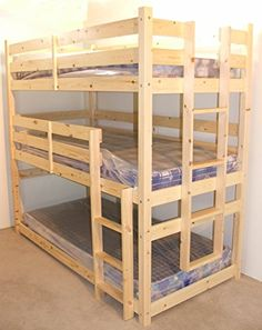 3 Tier Triple Bunkbed - 3ft Single Triple sleeper Bunk Bed - VERY STRONG BUNK - Contract Use - heavy duty use Strictly Beds Pandora 3 Tier Bunkbed http://www.amazon.co.uk/dp/B00J3QSNKG/ref=cm_sw_r_pi_dp_OoZyub1JQ6Z4W