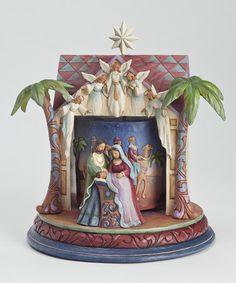 Look what I found on #zulily! Musical Nativity Masterpiece Figurine #zulilyfinds