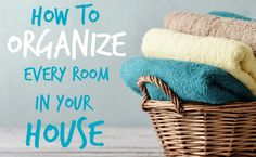 I'll walk you through how to organize your home room by room so you'll have a place for everything and a way to keep things organized. #clean