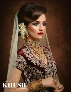 A regal hair and makeup look created by Khalida Makeup Artist +44(0)7527 312 779 kmakeupartist@ymail.com www.khalidamakeupartist.co.uk Outfit: Seema Silk Sarees Jewellery: Jewels N Gems