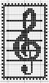 counted cross stitch for beginners Cross Stitch Music, Cross Stitch Bookmarks, Cross Stitch Kits, Cross Stitch Designs, Cross Stitch Patterns, Filet Crochet, Crochet Chart, Crochet Stitches, Loom Patterns