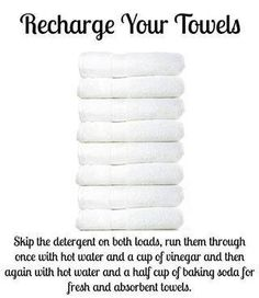 Recharging towels