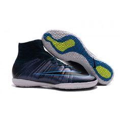 2016 Nike Mercurial X Proximo Street IC Botas De Futbol Indoor Púrpura Azul d5ea006cde638