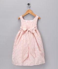 Pink Triangle Dupioni Silk Dress - Toddler & Girls