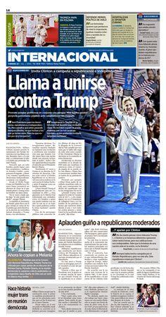 Newspaper design, layout, newspaper, clinton, print design, diseño editorial, periódico, especial