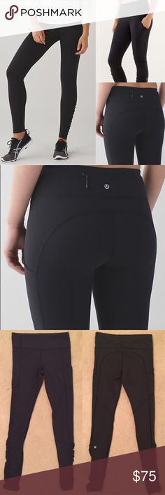 Lululemon speed tight IV in black Gently worn and no known flaws as shown. Size 6. 🙆🏻no trades or off site transactions.I offer a variety of sizes therefore I do not model🙅🏻Please accept that I will counteroffer the lowest amount I'm willing to take at that point😁I have an illness that sometimes requires serious medical attention & 2 little ones👶🏼👶🏻so if I don't respond I'm either very ill that day🚑 or have been kidnapped by my kids.Thank you for shopping my closet and happy…