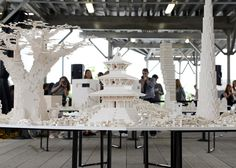 OMA, Renzo Piano, BIG and Steven Holl build Lego structures for Olafur Eliasson installation. In Manhattan
