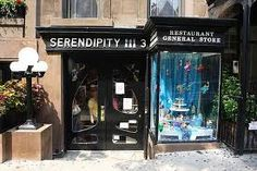 Serendipity NYC - Iw ill be going for a frozen hot chocolate!    225 East 60th Street  (Between 2nd & 3rd Ave)    Sun - Thurs 11:30am - Midnight  Friday 11:30am to 1am  Saturday 11.30am to 2am