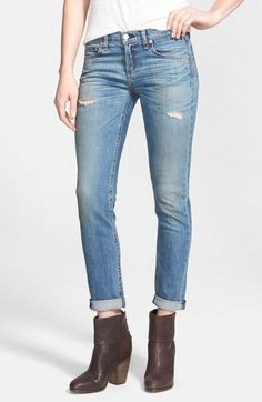 rag & bone/JEAN 'The Dre' Slim Boyfriend Jeans (Armitage) available at #Nordstrom