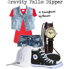 """Disneybounding Gravity Falls: Dipper"" by callmemasian on Polyvore! follow her fashion blog at http://styledbymasian.tumblr.com!"