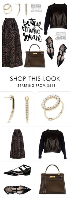 """""""Be true to who you are by Little h Jewelry"""" by littlehjewelry ❤ liked on Polyvore featuring Pinko, Maison Rabih Kayrouz, Valentino, Anja and Hermès"""