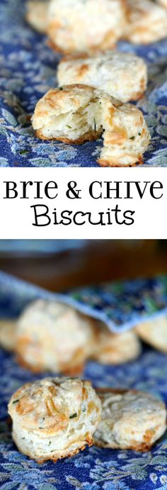 Brie and Chives Biscuit Recipe - Easy homemade buttermilk biscuits with brie and chives. It's so easy to make these amazing, flaky biscuits from scratch!