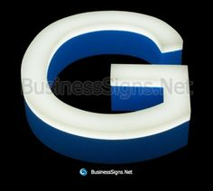 LED Front-lit Business Signs With Painted Stainless Steel Letter Shell And Thickness Acrylic front-panel Business Signs, Side View, Metal Signs, Signage, Shell, Surface, Stainless Steel, Led, Lettering