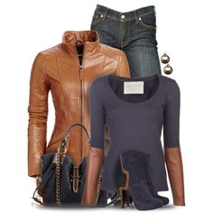 """Leather Jacket"" by yasminasdream on Polyvore"
