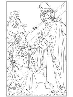 Sixth Station Of The Cross Coloring Page