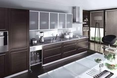 modern kitchen furniture cabinets with glass doors