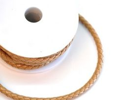 6mm Plaited  Round Leather Cord from Paradise Creative Crafts.for R28/5m.  The perfect bracelet is in the making:)