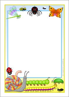 Mad About Minibeasts A4 Page Borders (SB9543)   SparkleBox