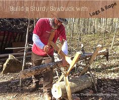 How To Build A Sturdy Sawbuck With Logs And Rope