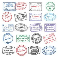 Pasport Stamps — Stock Illustration #6697187