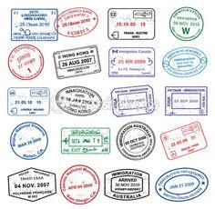 Pasport Stamps — Stock Illustration #6697187