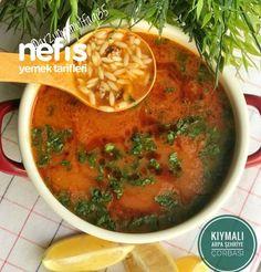 Kıymalı Arpa Şehriye Çorbası - Nefis Yemek Tarifleri - arzununmutfagi35 #kıymalıarpaşehriyeçorbası #çorbatarifleri #nefisyemektarifleri #yemektarifleri #tarifsunum #lezzetlitarifler #lezzet #sunum #sunumönemlidir #tarif #yemek #food #yummy Thai Red Curry, Noodles, Meals, Ethnic Recipes, Soups, Recipies, Macaroni, Meal, Soup