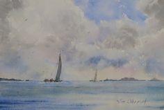 "Big Sky - 7.5x11"" original watercolor painting by Jim Oberst - $100 incl. U.S. shipping."
