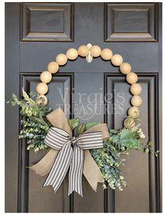 Front Door Decor, Wreaths For Front Door, Door Wreaths, Ribbon Wreaths, Yarn Wreaths, Floral Wreaths, Mens Room Decor, Wall Decor, Tuscan Decorating