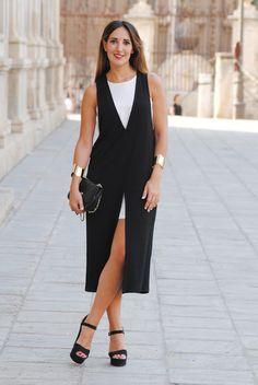 Bicolor dress. http://www.fashion-south.com/2015/08/bicolor-dress.html