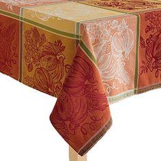 Harvest Season Pumpkin Jacquard Tablecloth with 6 Napkins - 60 inch by 84 inch Oblong Harvest Season http://www.amazon.com/dp/B015AETWIQ/ref=cm_sw_r_pi_dp_KDf9vb15BR0K7