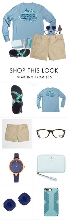 """you're taking up a fraction of my mind"" by legitimately-kierstin ❤ liked on Polyvore featuring J.Crew, Ray-Ban, Kate Spade and Burt's Bees"